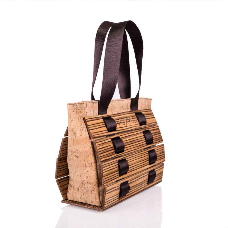 Wooden Zebrano Handle Bag