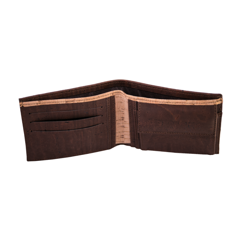 Classic Bifold Coin Wallet Brown
