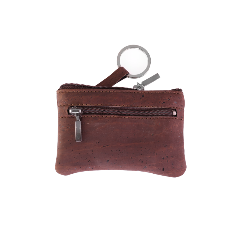 Double Pocket Brown Wallet with key ring